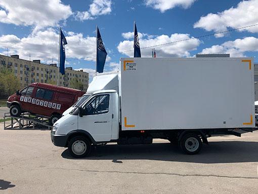 Выдача сэндвич-фургона на базе ГАЗ 3302